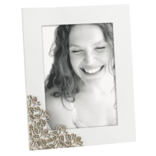 Cadre photo bois 20x25 Fleurs taupes