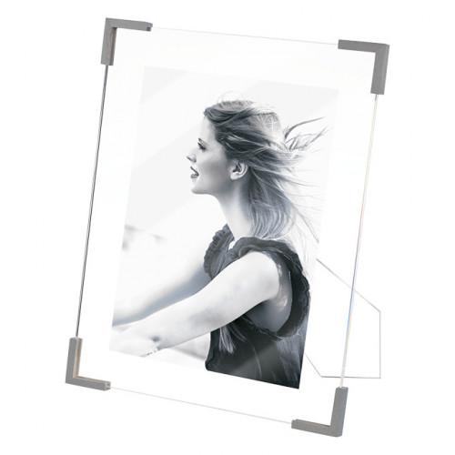 Cadre photo 15x20 en résine angles gris