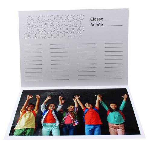 Cartonnage photo scolaire - Groupe A4 - Tous au Tableau - Intérieur classe