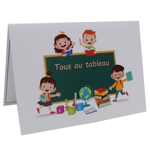 Cartonnage photo scolaire - Groupe A4 - Tous au Tableau
