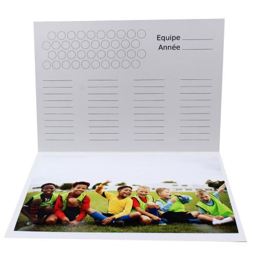 Cartonnage photo scolaire - Groupe A4 - les Pros du foot - Intérieur équipe