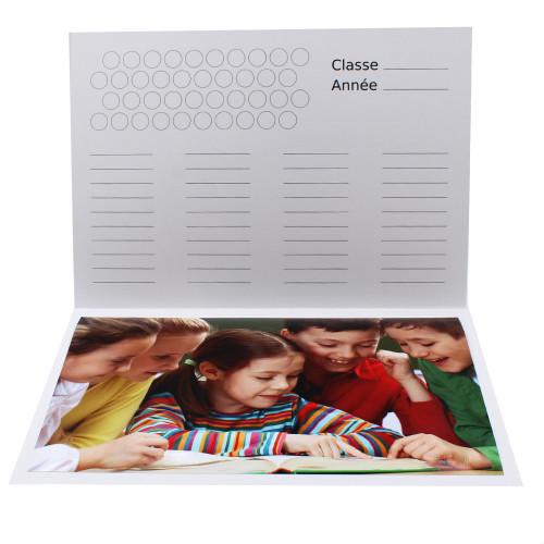 Cartonnage photo scolaire - Groupe A4 - Vive l'Ecole - Intérieur classe