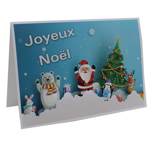 Cartonnage photo A4 - Joyeux Noël BL