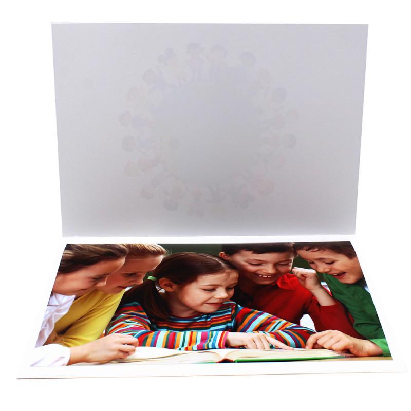 Cartonnage photo A4 -Père Noël Trio - Intérieur