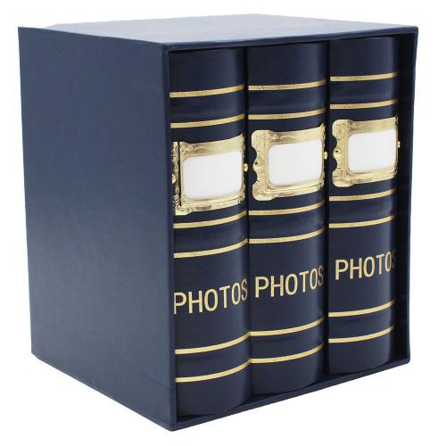 Coffret de 3 albums Fashion 100 pochettes 10x15 - Bleu