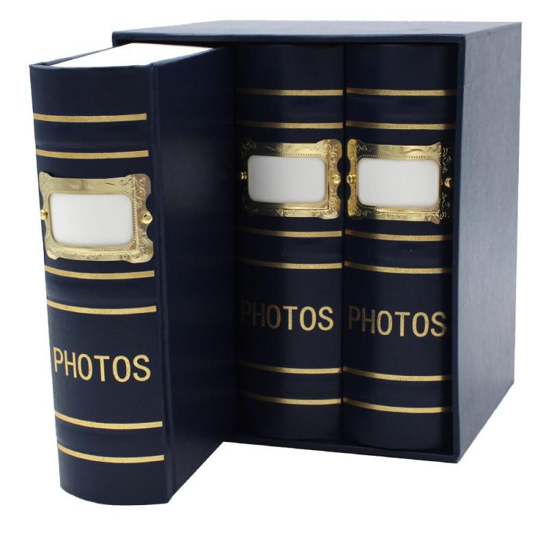 Coffret de 3 albums Fashion 100 pochettes 10x15 - Bleu détail