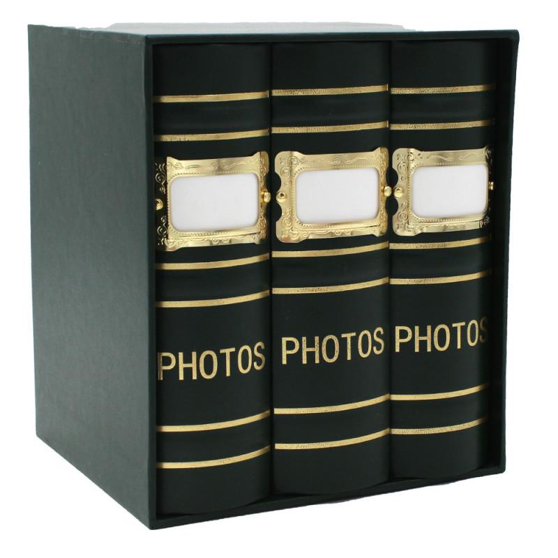 Coffret de 3 albums Fashion 100 pochettes 10x15 - Vert