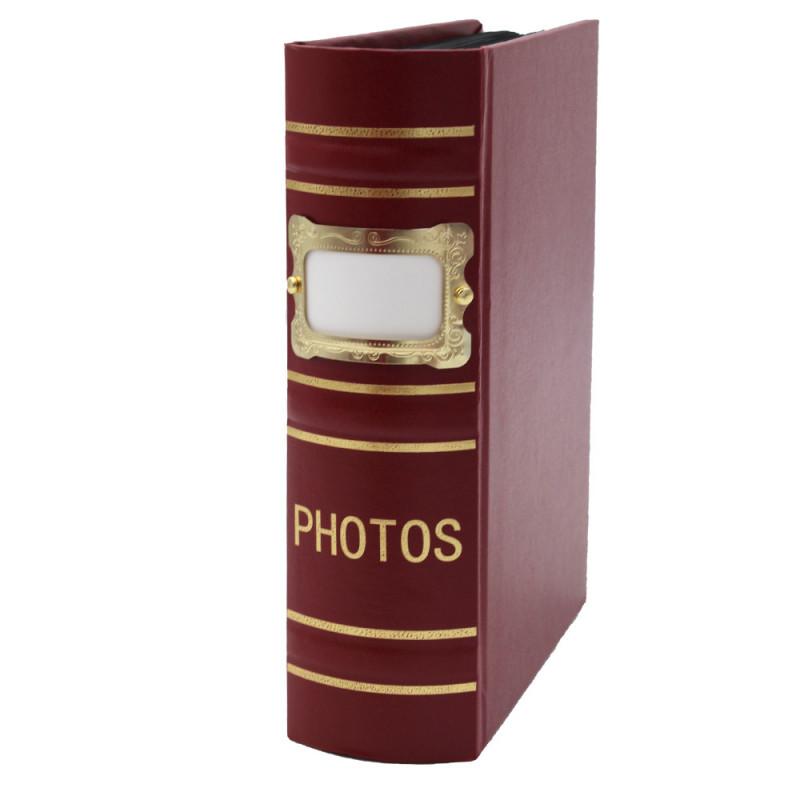Coffret de 3 albums Fashion 100 pochettes 10x15 - Album bordeaux