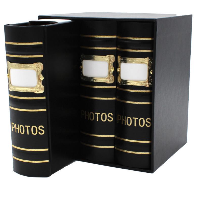 Coffret de 3 albums Fashion 100 pochettes 10x15 - Noir détail