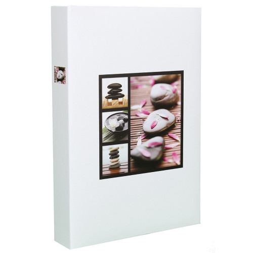 Album photo Stones 200 pochettes 13x18 - Blanc