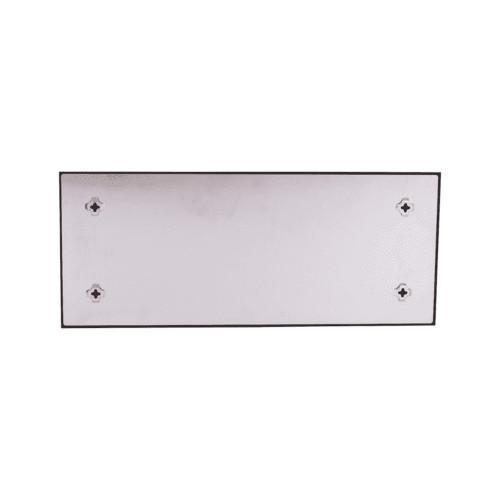 Mémo board magnétique en verre effet Pierre blanche 25x60 cm - Dos