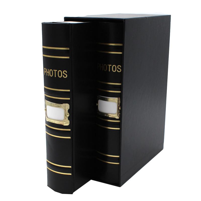 Coffret de 2 albums Fashion 200 pochettes 10x15 - coffret noir