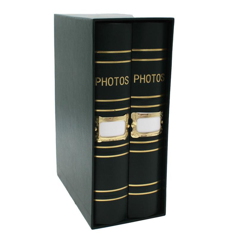 Coffret de 2 albums Fashion 200 pochettes 10x15 Vert