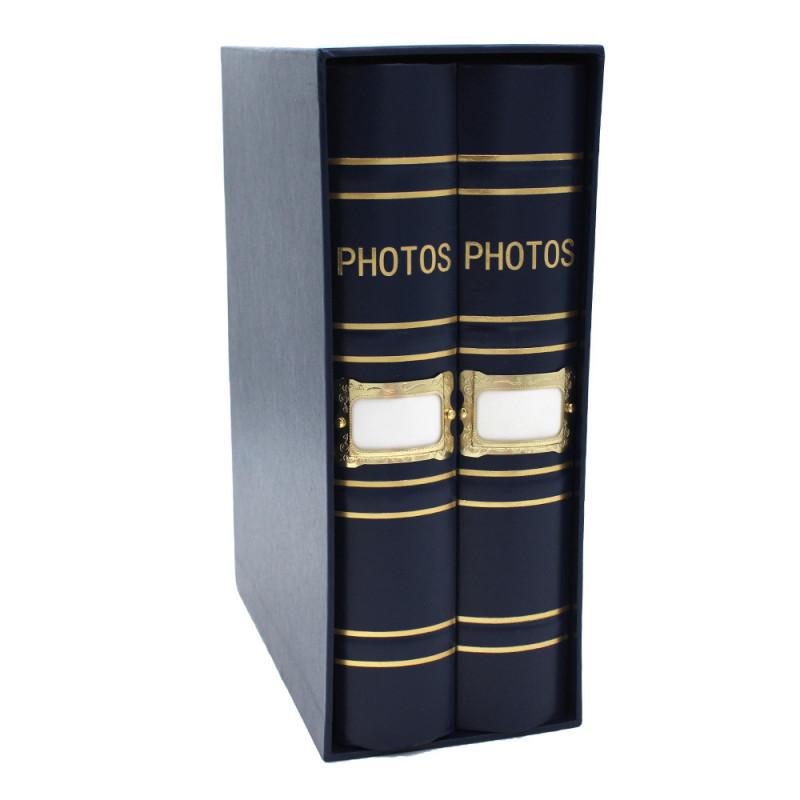 Coffret de 2 albums Fashion 200 pochettes 10x15 Bleu
