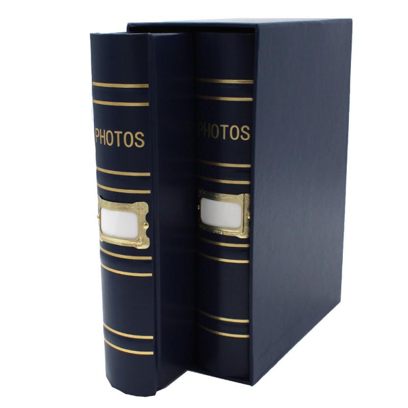 Coffret de 2 albums Fashion 200 pochettes 10x15 - coffret bleu