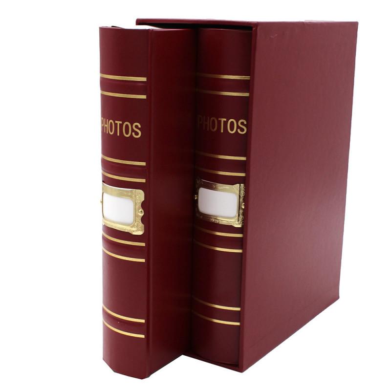 Coffret de 2 albums Fashion 200 pochettes 10x15 - Coffret bordeaux