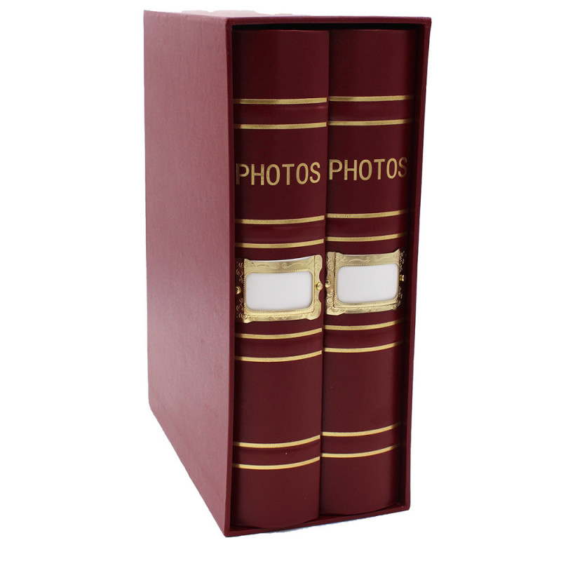 Coffret de 2 albums Fashion 200 pochettes 10x15 Bordeaux