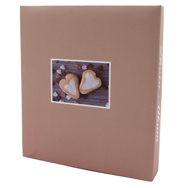 lot de 3 albums pochettes 10x15 Compliments 200 photos - dos beige