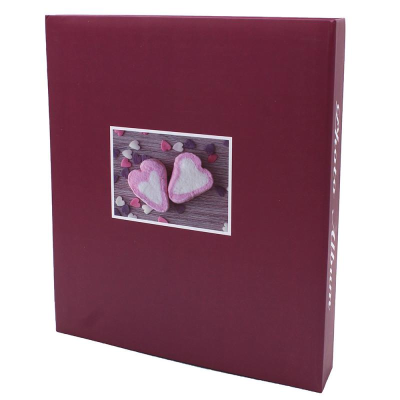 lot de 3 albums pochettes 10x15 Compliments 200 photos - dos bordeaux