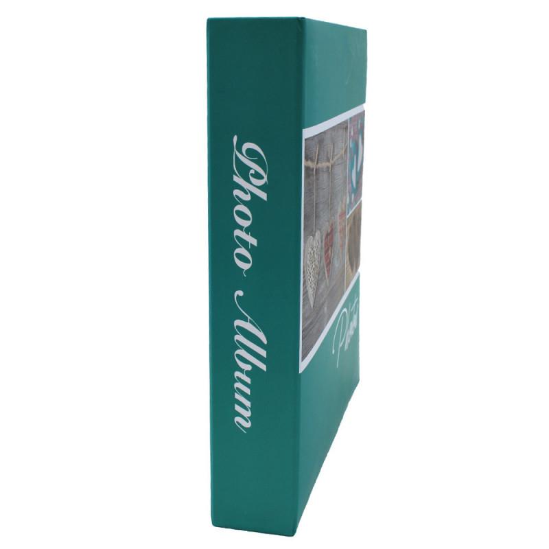 lot de 3 albums pochettes 10x15 Compliments 200 photos - tranche turquoise