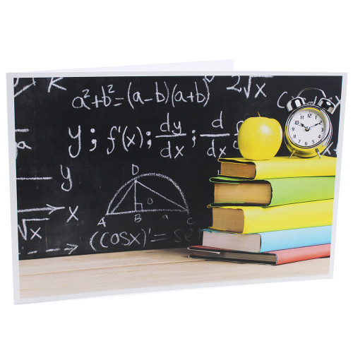 Cartonnage photo scolaire - Groupe 20x30 -18x25 - Vive les Maths!