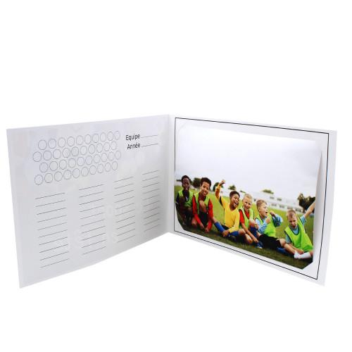 Cartonnage photo scolaire - Groupe 20x30 -18x25 - Mon sport préféré - Intérieur équipe
