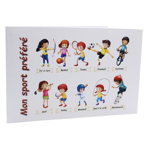 Cartonnage photo scolaire - Groupe 20x30 -18x25 - Mon sport préféré