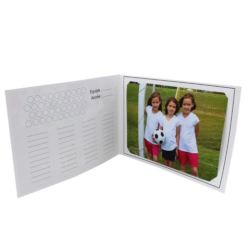 Cartonnage photo scolaire - Groupe 20x30 -18x25 - A fond le Foot - intérieur équipe