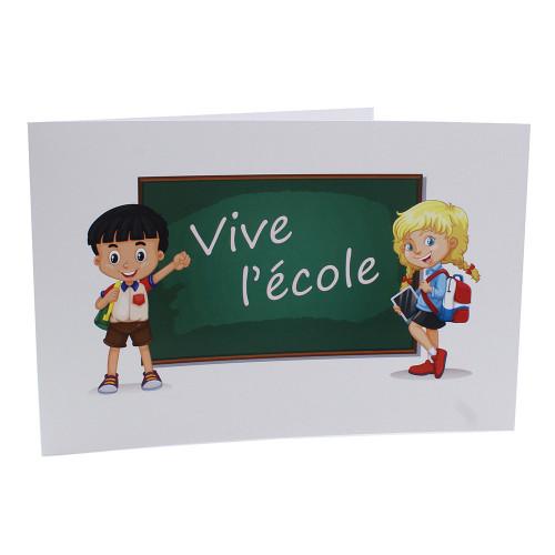 Cartonnage photo scolaire - Groupe 20x30 -18x25 - Vive l'école