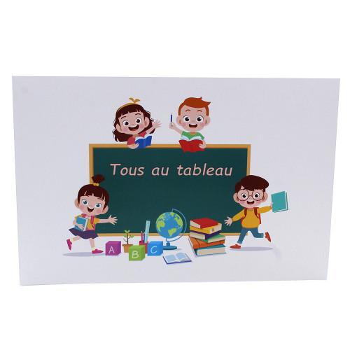 Cartonnage photo scolaire - Groupe 20x30 -18x25 - Tous au tableau