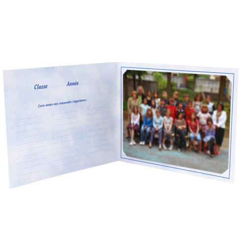 Cartonnage photo scolaire - Groupe 18x24 - Tramway