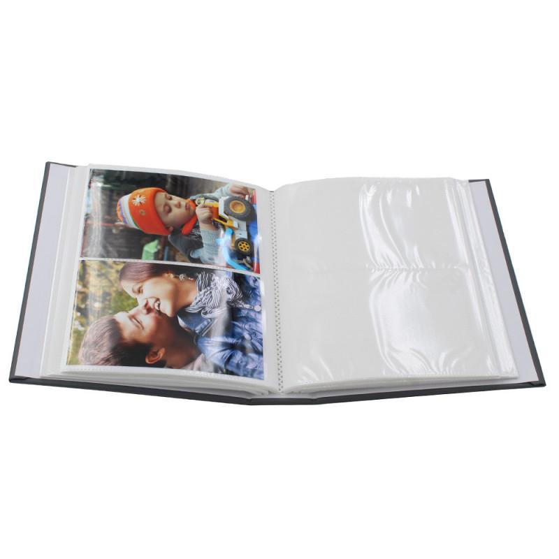 Lot de 2 albums photo Dual 200 pochettes 10x15 ouvert