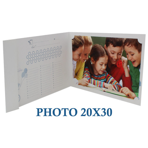 "Cartonnage photo scolaire - Groupe 20x30 -""Moderne alphabet"""