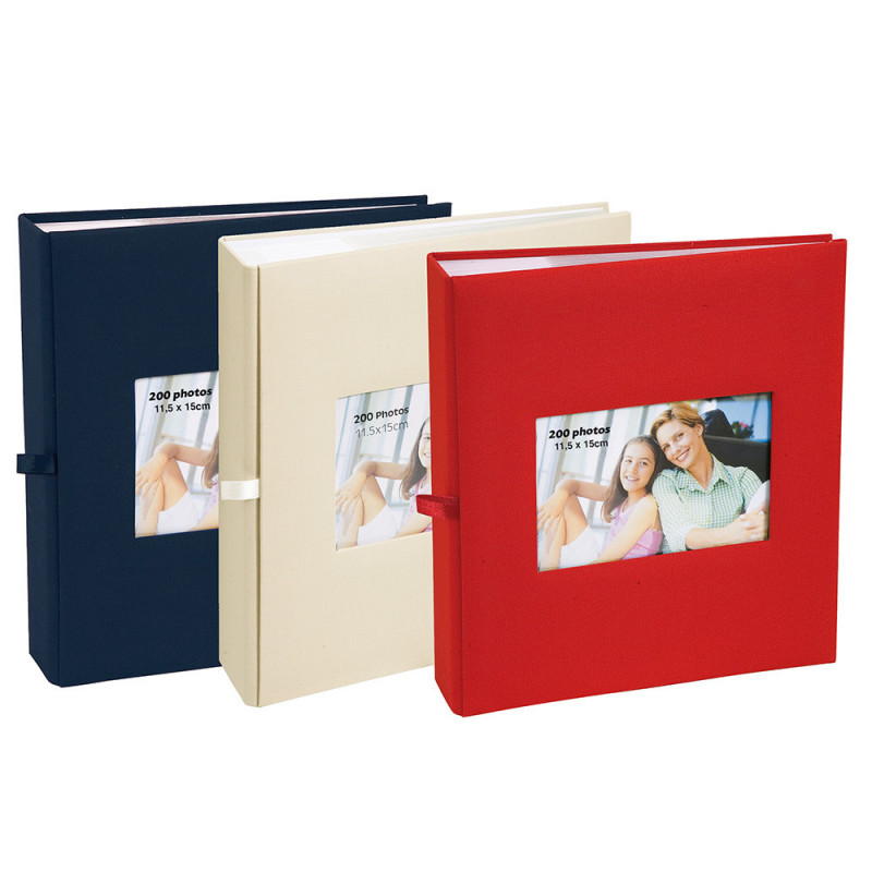 lot--3-albums-photo-square-200-pochettes-11,5x15-bleue-beige-rouge