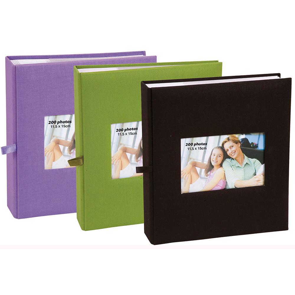 Lot de 3 albums photos Erica Nature Vert /à pochettes 11.5x15 pour 200 photos