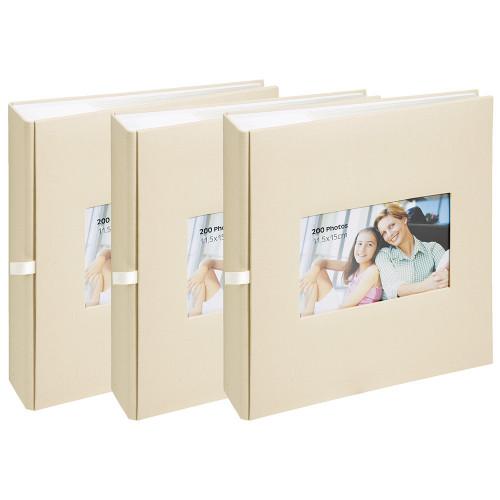 Lot de 3 albums à pochettes Square pour 200 photos 11.5x15
