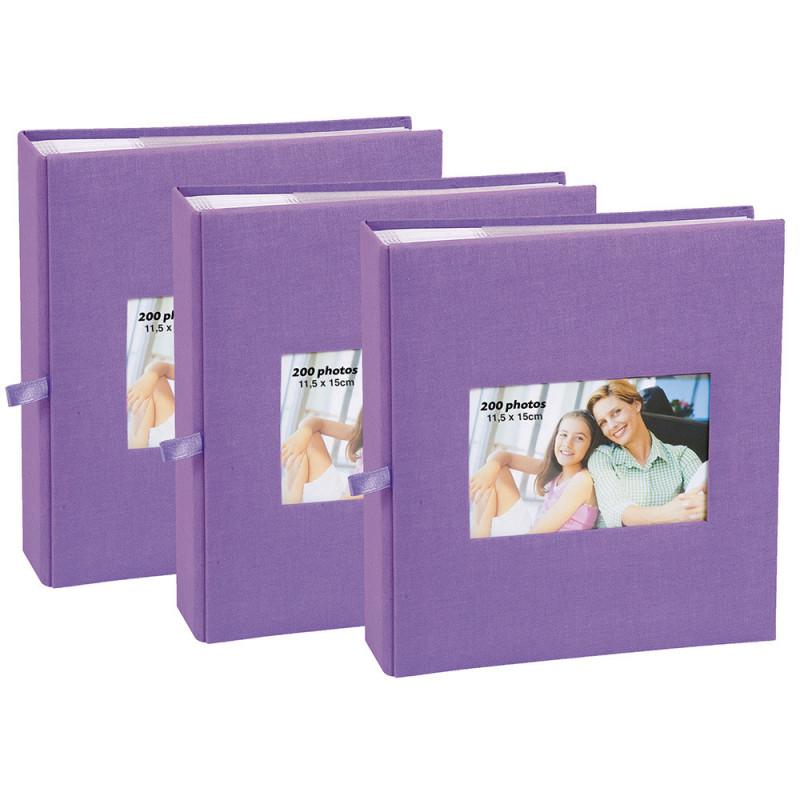 lot-3-albums-photo-square-200-pochettes-11,5x15-violet