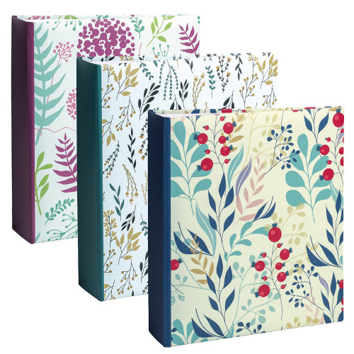 Lot de 3 albums photo Flowers 2 200 pochettes 11,5X15
