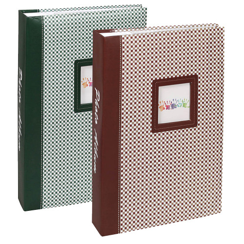 lot-2-albums-photo-elements-300-pochettes-10x15-brun-et-vert