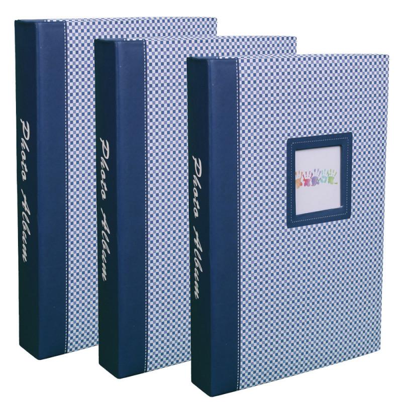 lot-3-albums-photos-elements-300-pochettes-10x15-bleu