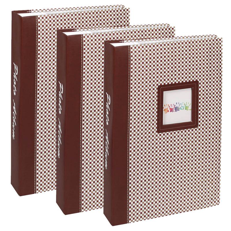 lot-3-albums-photos-elements-300-pochettes-10x15-brun
