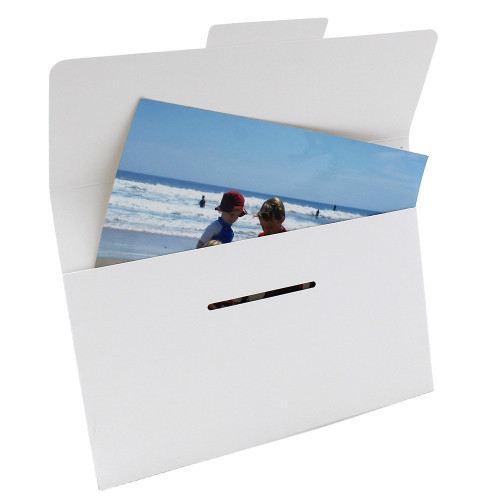 50 pochettes agrandissements 17x23 blanches