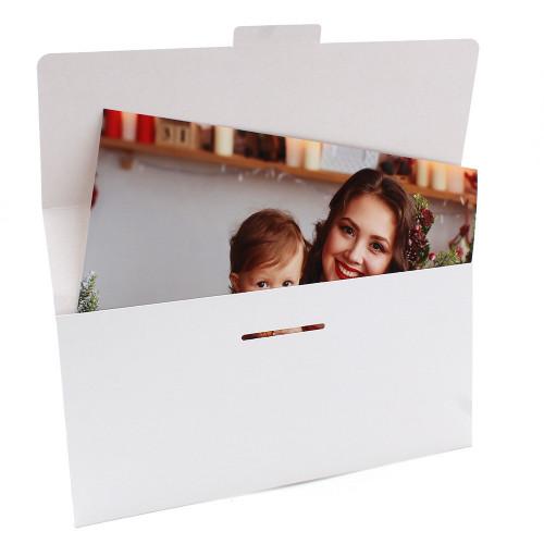 50 pochettes agrandissements 22x32 blanches