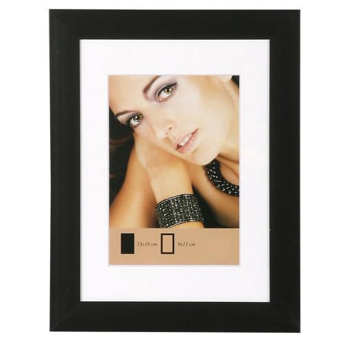 Cadre photo Aluminium métal noir mat 15x20