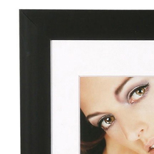 Cadre photo Aluminium métal noir mat 15x20-detail