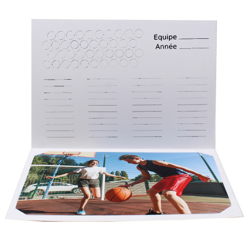 Cartonnage photo scolaire - Groupe 18x24 - Basket N1-avec-photo-Equipe