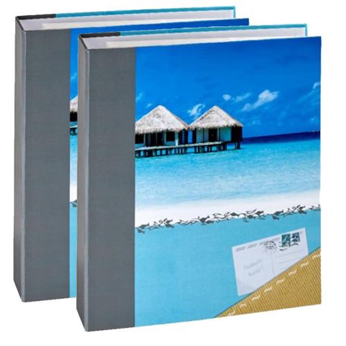 Lot 2 classeurs photo à pochettes Panodia Sun pour 400 photos 11,5x15