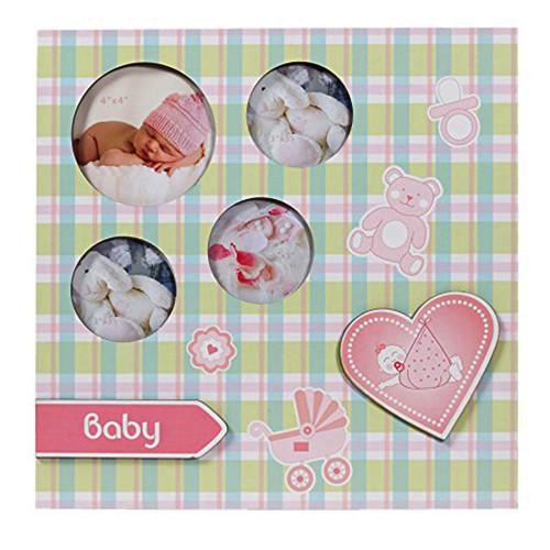 Panneau pêlemêle Baby Karo rose