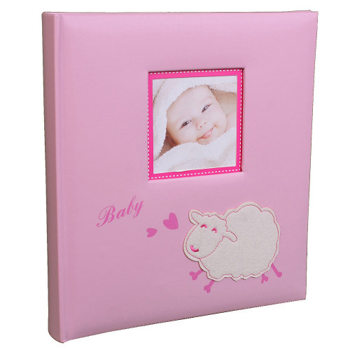 album-photo-naissance-traditionnel-baby-sheep-rose