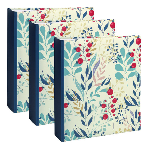 Lot de 3 albums photo Flowers 2 Blue Color 200 pochettes 11,5X15